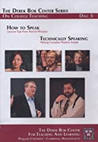 How to Speak: Lecture Tips from Patrick…