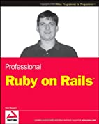 Professional Ruby on Rails by Noel Rappin