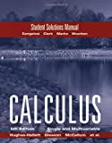 Hughes-Hallett, Deborah: Hughes Hallett Student Solutions Manual to accompany Calculus Combo