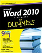 Word 2010 All-in-One For Dummies by Doug…