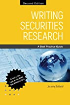 Writing Securities Research: A Best Practice…