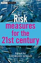 Risk measures for the 21st century by G. P.…