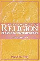 Psychology of Religion: Classic and…