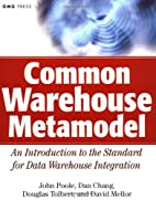 Common Warehouse Metamodel: An Introduction…