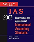 WILEY IAS 2003: Interpretation and…