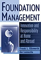 Foundation Management: Innovation and…