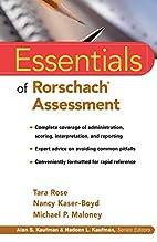 Essentials of Rorschach Assessment…