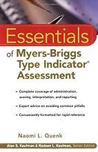 Essentials of Myers-Briggs Type Indicator…