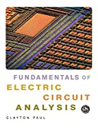 Fundamentals of Circuit Analysis by Clayton…