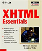 XHTML Essentials by Michael P. Sauers