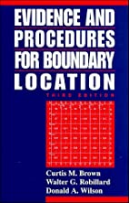 Evidence and procedures for boundary…