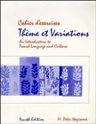 Hagiwara, M. Peter: Cabier D' Exercices Theme Et Variations: An Introduction to French Language and Culture