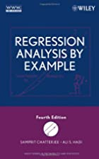 Regression Analysis by Example by Samprit…