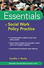 Essentials of social work policy practice by…