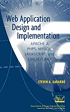 Web Application Design and Implementation:…