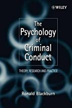 The Psychology of Criminal Conduct: Theory,…