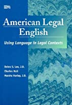 American Legal English: Using Language in…