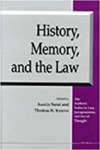 History, Memory, and the Law (The Amherst…