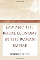 Law and the rural economy in the Roman…