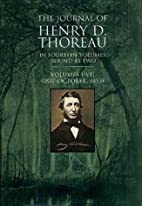 The Journal of Thoreau, Vol. 1 (1837-1855…