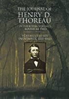 The Journal of Thoreau, Vol. 2 by Henry…
