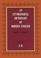 Etymological Dictionary of Modern English…