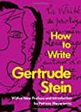 Stein, Gertrude: How to Write