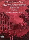 Mozart, Wolfgang Amadeus: Piano Concertos Nos. 17-22 in Full Score (Dover Music Scores)
