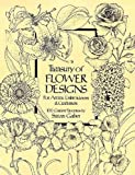 Gaber, Susan: Treasury of Flower Designs for Artists, Embroiderers and Craftsmen: 100 Garden Favorites