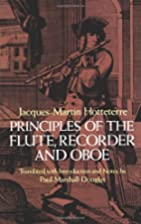 Principles of the Flute, Recorder and Oboe…