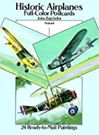 Historic Airplanes: Full-Color Postcards: 24…
