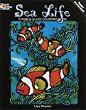Hunter, Llyn: Sea Life Stained Glass Coloring Book