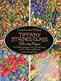 Tiffany, Louis Comfort: Tiffany Stained Glass Giftwrap Paper: Four Different Designs on Four 18X24 Sheets With Four Matching Gift Cards