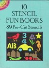 Dover: 10 Stencil Fun Books: 89 Pre-Cut Stencils (Dover Little Activity Books)