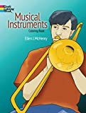 Ellen J. McHenry: Musical Instruments Coloring Book (Dover Design Coloring Books)