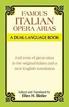 Famous Italian Opera Arias by Ellen H.…