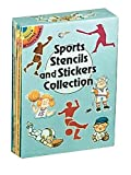 Dover: Sports Stencils and Stickers Collection