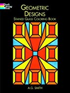 Geometric Designs Stained Glass Coloring…