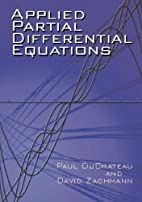 Applied Partial Differential Equations by…