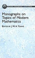 Monographs on Topics of Modern Mathematics…