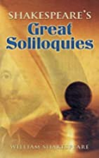 Shakespeare's Great Soliloquies by William…