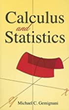Calculus and Statistics by Michael C.…