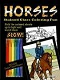 Green, John: Horses Stained Glass Coloring Fun