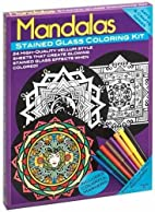 Mandalas Stained Glass Coloring Kit by Dover…