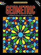 Geometric Stained Glass Coloring Book:…
