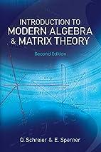 Introduction to modern algebra and matrix…