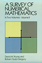 A Survey of Numerical Mathematics, Vol. 2 by…
