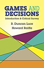Games and Decisions: Introduction and…