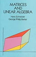 Matrices and Linear Algebra (Dover Books on…