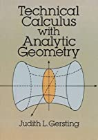 Technical Calculus with Analytic Geometry by…